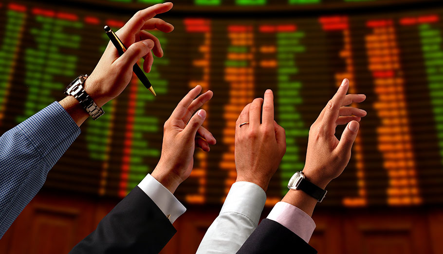 Hands up for the stock market.
