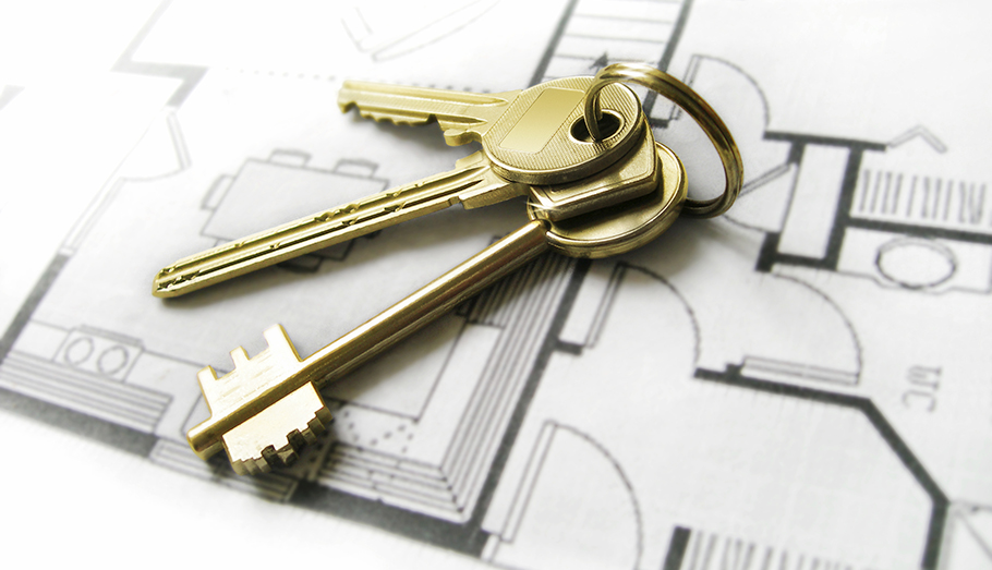 Keys to a new home.